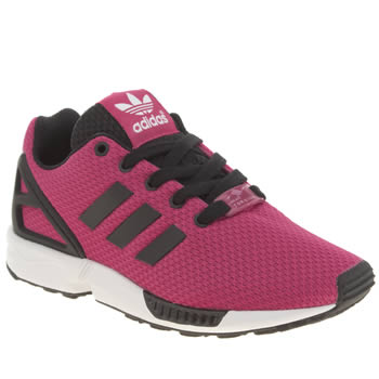 Girls Adidas Pink Zx Flux Girls Junior