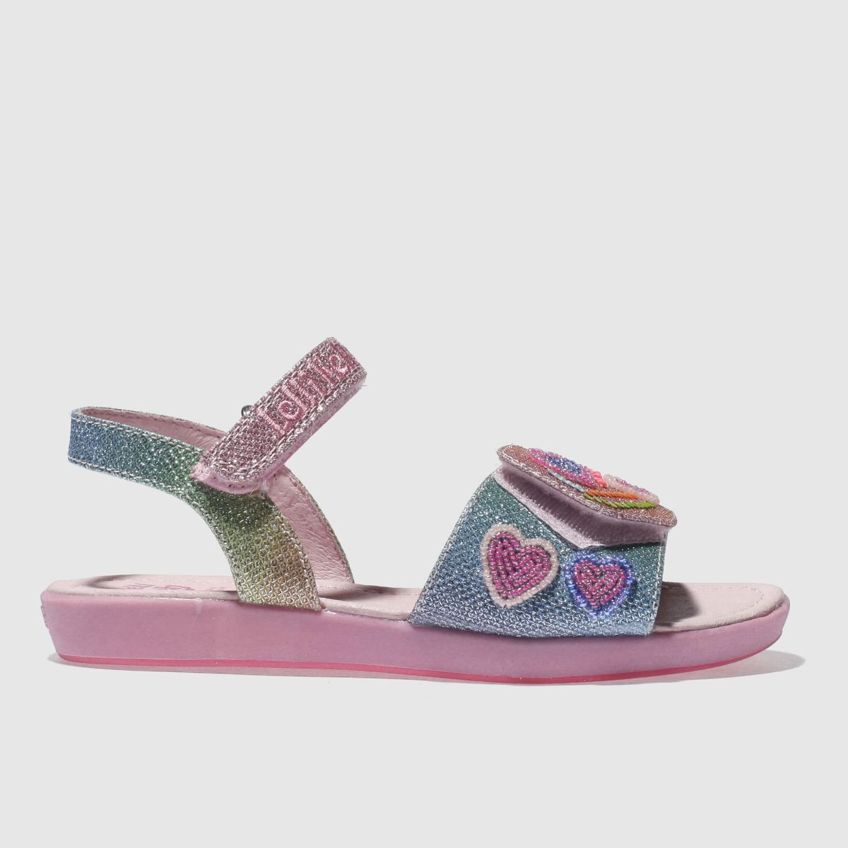 Lelli Kelly Lelli Kelly  Pink Rainbow Hearts Girls Junior Sandals