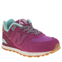 New Balance Pink 574 New England Girls Junior