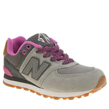 New Balance Grey 574 New England Girls Junior