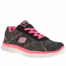 Skechers Black & pink Skech Appeal Electric Girls Junior