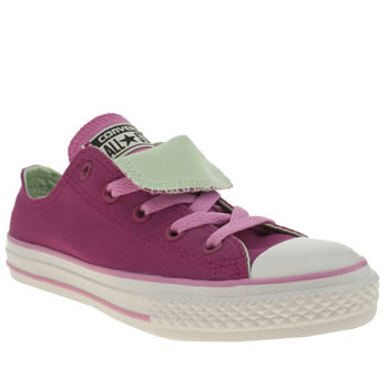 Converse Pink All Star Double Tongue Girls Junior