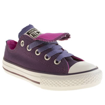 Converse Purple All Star Double Tongue Girls Junior