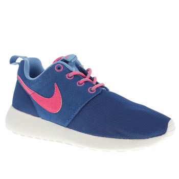kids nike blue rosherun trainers