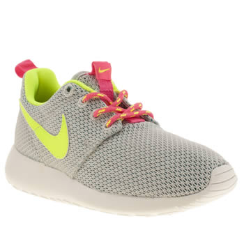 Nike Light Grey Roshe Run Girls Youth