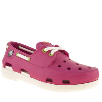 Crocs Pink Beach Line Girls Youth