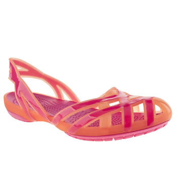 Crocs Orange Hurache Slingback Girls Youth