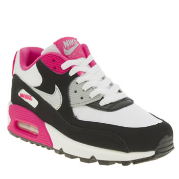 Nike White & Pink Air Max 90 2007 Girls Youth