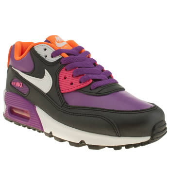Nike Black & Purple Air Max 90 2007 Girls Youth