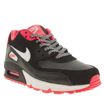 Girls Nike Black & pink Air Max 90 2007 Girls Youth