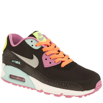 Nike Black & Silver Air Max 90 2007 Girls Youth