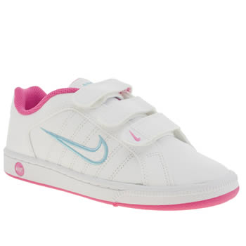Girls Nike White & Pink Court Tradition 2 Plus Girls Youth