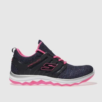 Skechers Navy Diamond Runner Girls Youth