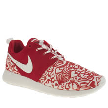 Nike Red Roshe One Print Girls Youth