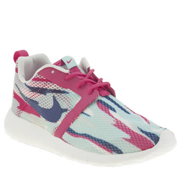 Girls Nike Pale Blue Roshe Run Flight Weight Girls Youth