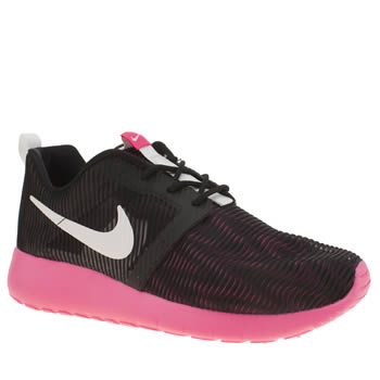 Nike Black & pink Roshe One Flight Weight Girls Youth
