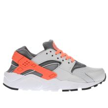 Nike Light Grey Huarache Run Girls Youth