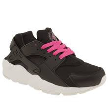 Nike Black Huarache Run Girls Youth