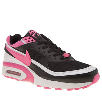 NIKE BLACK & PINK AIR MAX BW GIRLS YOUTH TRAINERS