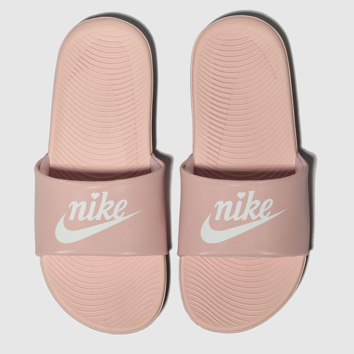 Nike Pale Pink Kawa Slide Trainers Youth