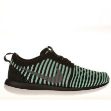 Nike Black & Turquoise Roshe Two Flyknit Girls Youth