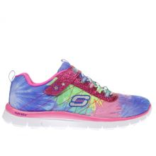 Skechers Pink & Blue Skech Appeal Hot Tropic Girls Youth