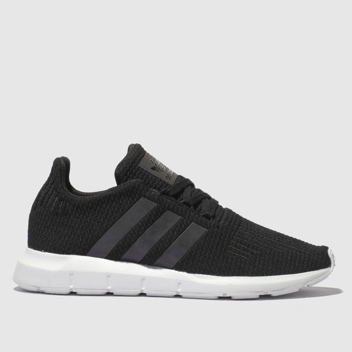 Adidas Black And Blue Swift Run Trainers Youth