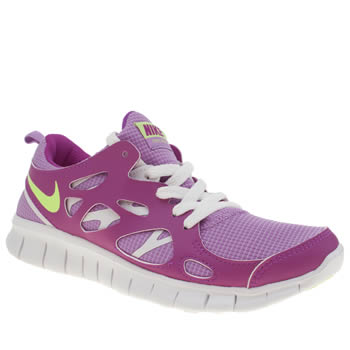 Nike Purple Free Run 2.0 Girls Youth