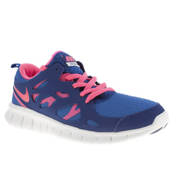 Girls Nike Blue Free Run 2-0 Girls Youth