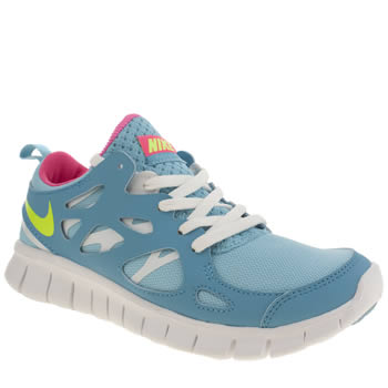 Girls Nike Pale Blue Free Run 2-0 Girls Youth