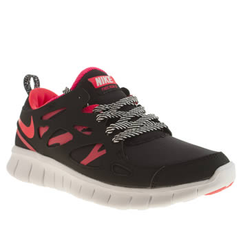 Nike Black & pink Free Run 2-0 Girls Youth