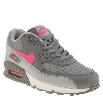 Nike Grey Air Max 90 Mesh Girls Youth