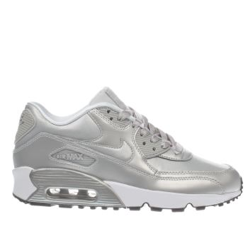 Nike Silver Air Max 90 Mesh Girls Youth