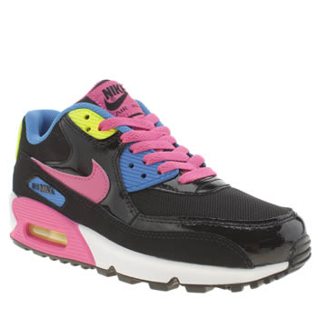 Nike Black & pink Air Max 90 Mesh Girls Youth