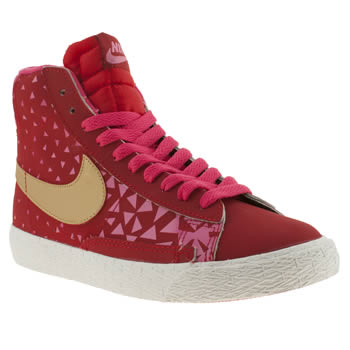 Girls Nike Red Blazer Mid Vintage Girls Youth
