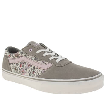 Vans Grey Milton Vintage Floral Girls Youth