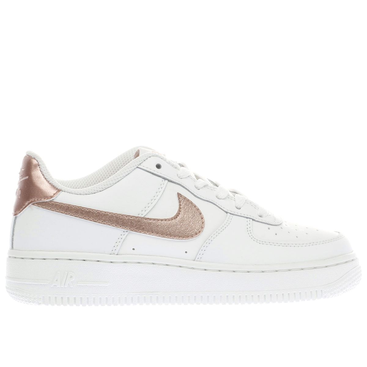nike white & rose gold air force 1 Girls Youth Trainers