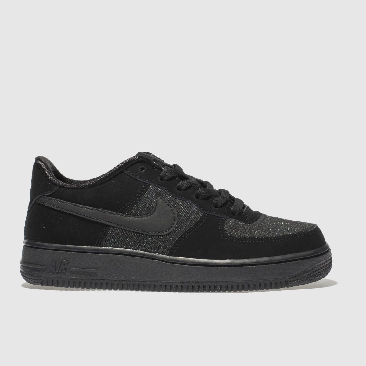 Nike Black Air Force 1 Lv8 Girls Youth Youth