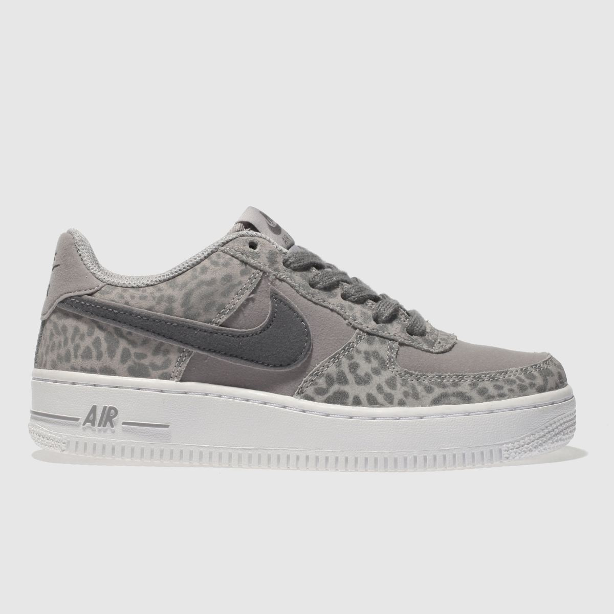 Nike Grey Air Force 1 Girls Youth Youth