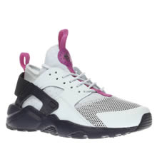 Nike Light Grey & Navy Huarache Run Ultra Girls Youth