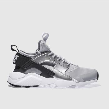 Nike Silver & Black HUARACHE RUN ULTRA Girls Youth