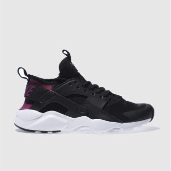 Nike Black & Purple HUARACHE RUN ULTRA Girls Youth