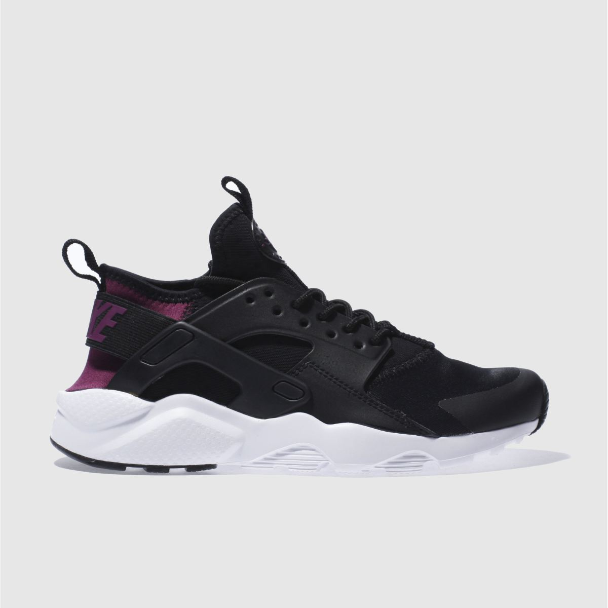 nike black & purple huarache run ultra Girls Youth Trainers