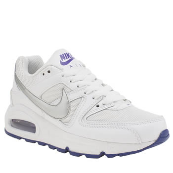 Nike White & Purple Air Max Command Girls Youth