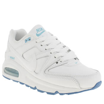 Nike White & Blue Air Max Command Girls Youth