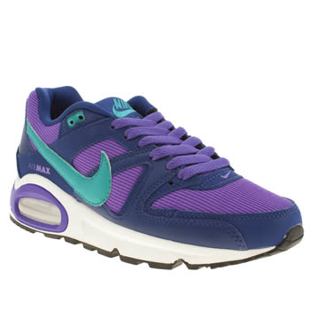 kids nike purple air max command trainers