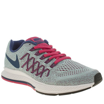 Girls Nike Pale Blue Zoom Pegasus 32 Girls Youth