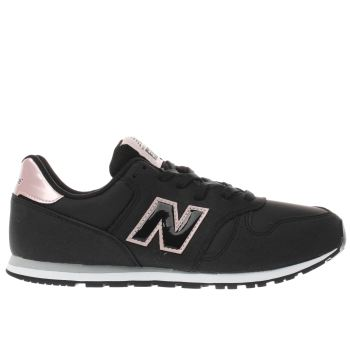 New Balance Black & pink 373 Girls Youth