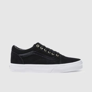Vans Black & Gold OLD SKOOL Girls Youth