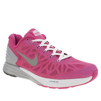 Girls Nike Pink Lunarglide 6 Girls Youth